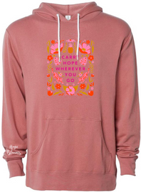 Carry Hope Unisex Hooded Sweatshirt | Hope Blooms
