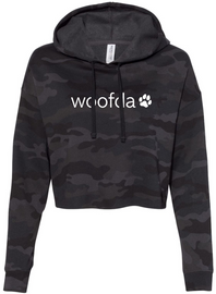 Downtown Dogs Camo Cropped Hoodie