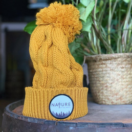Camel NoTN Patch Pom Beanie | Nature of the North