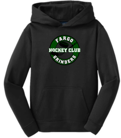 Fargo Grinders Youth Sport-Wick® Fleece Hooded Pullover