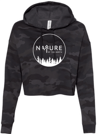 Nature of the North Camo Crop Ladies Hoodie