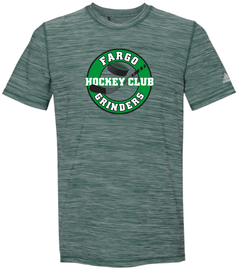Green Melange Fargo Grinders Adidas Men's Tech T-Shirt