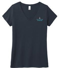 Navy Tee it up for Spencer Ladies V-Neck Tee
