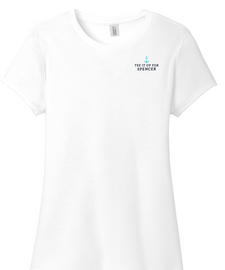 White | Tee it up for Spencer Ladies Tee