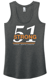 51 Strong Ladies Tank Two color logo design