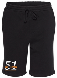 Two color Design 51 Strong Mid-weight Fleece Shorts