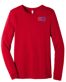 Red ConquerNinja Gym Long Sleeve | Front and Back Design