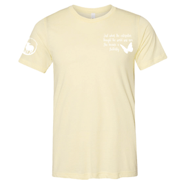 Harvest Hope Farm |  Pale Yellow Butterfly Tee