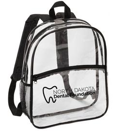NDDF Clear Backpack | North Dakota Dental Foundation