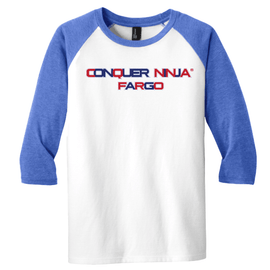Royal Frost Conquer Ninja Youth Baseball Tee