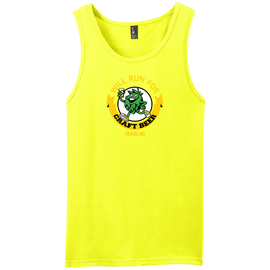 Will Run For Craft Beer Unisex Neon Yellow Muscle Tank