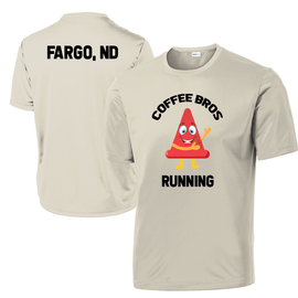 CoffeeBros Running Safety Cone Tech Tee - Sand