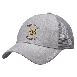 Fargo South Bruins Hockey Bauer New Era Grey Adjustable Cap with Rounded Logo