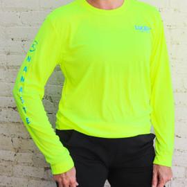 Neon Yellow Lucent Yoga & Fitness Unisex Namaste Sport-Tek Tee