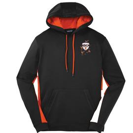 Four Star Ninja Academy Adult Hoodie Black Orange