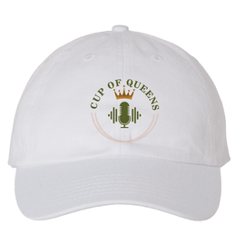 White Cup of Queens Canvas Hat