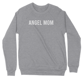 Angel Mom Crewneck Sweatshirt