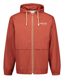 Orange | NoTN Water-resistant Hooded Rainjacket