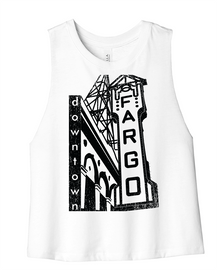 Downtown Fargo Ladies Crop| Shirts from Fargo