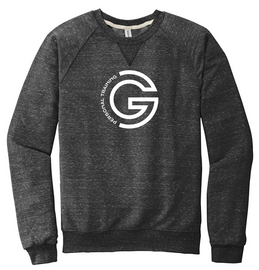 G Personal Training Snow French Terry Crewneck Front Chest