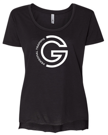 G Personal Training Ladies Drop Hem Tee Front Chest