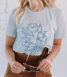 Madeline Design | Faye Ice Blue Tee