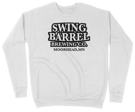 White Swing Barrel Brewing Company Drop Shoulder Crewneck