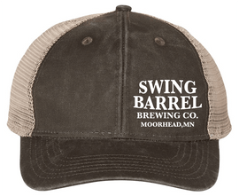 Black Tea Swing Barrel Brewing Company Ladies Ponytail Hat