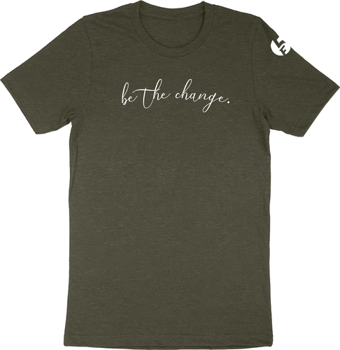 Military Heather Green F5 Project Be the Change Soft Tee