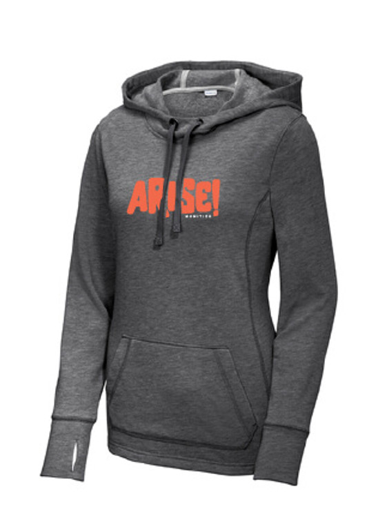 Arise! Super Soft Hoodie - Ladies Fit. Arise! Communities believes in inclusive technology education and embracing diversity in the Fargo-Moorhead community. Their goal is to create a more equitable and diverse technology industry