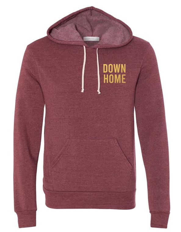 Down Home Hoodie - Metallic Lettering