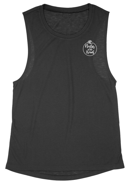 """White- AKA """"Nectar of the Broads"""" Ladies Muscle Tank 