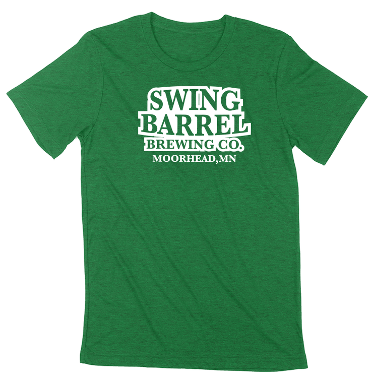 Swing Barrel Brewing Company Grass Green Logo Tee