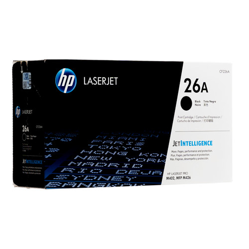 Original HP 26A CF226A Black LaserJet Toner Cartridge