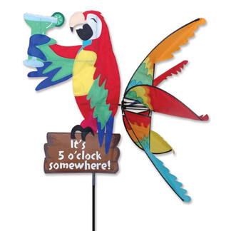 """Your front yard, lawn or deck can be a true """"Animal House"""" of fun with these wacky revelers. The spinner is a delightful lawn marker for parties and/or any festive event. Spinner wording reads, """"It's 5 o'clock somewhere!"""""""