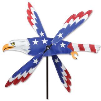 PATRIOTIC EAGLE WHIRLIGIG 25 inch