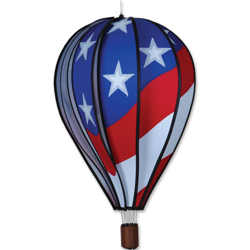 Wind Spinner Patriotic Hot Air Balloon 22 Inch