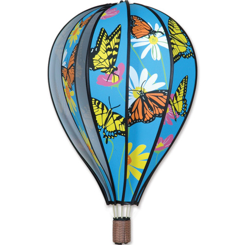 Wind Spinner Butterflies Hot Air Balloon 22 Inch