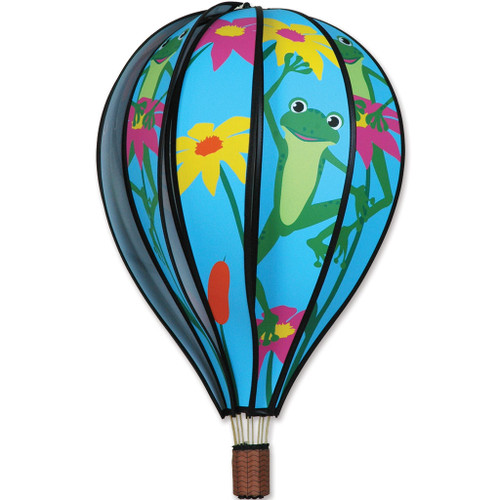 Wind Spinner Frog Hot Air Balloon 22 Inch
