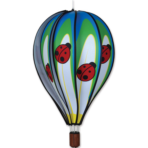Wind Spinner Lady Bug Hot Air Balloon 22 Inch