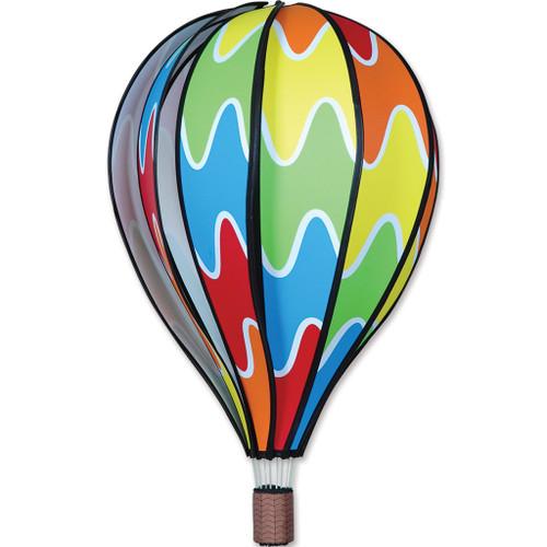 Wind Spinner Rainbow Hot Air Balloon 22 Inch