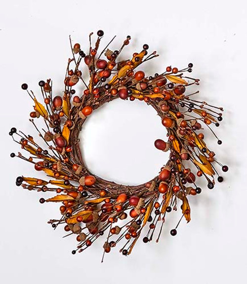 """Approximate outer diameter is 14""""  Approximate inner diameter is 9.5""""  Wreath is all wired for easy shaping"""