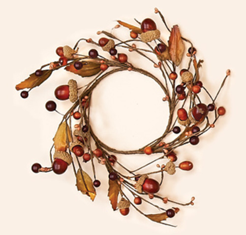 4.25 Inch Acorn Candle Ring. Candle Ring is all wired for easy shaping