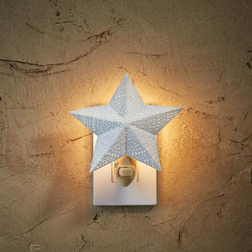 """STAR NIGHT LIGHT DIMENSIONS: 6"""" H X 5.5"""" W X .75"""" D"""