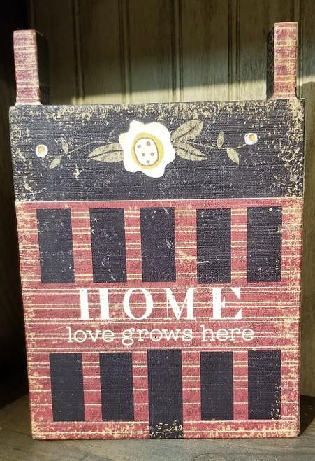 HOME LOVE GROWS HERE 9X6X1