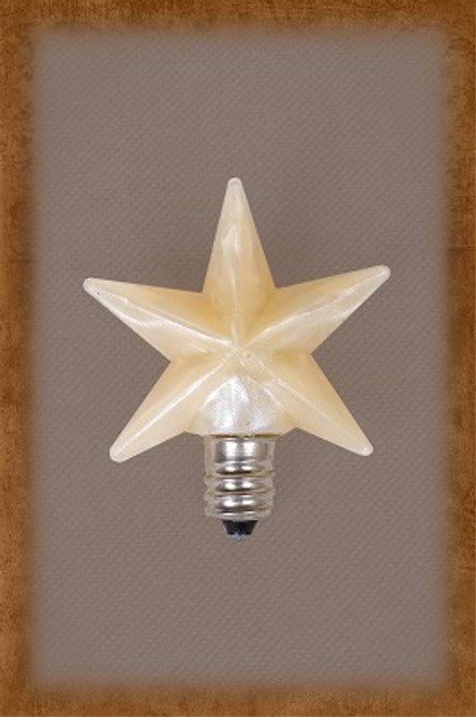 SILICONE STAR BULBS COME IN TWO SIZES. SMALL IS 1.5 INCHES LARGE IS 3 INCHES