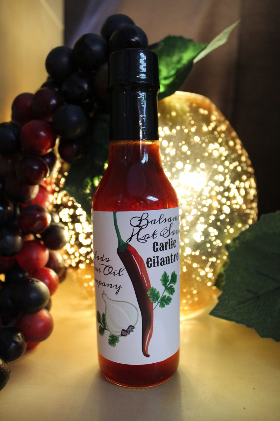 Garlic Cilantro Balsamic Hot Sauce