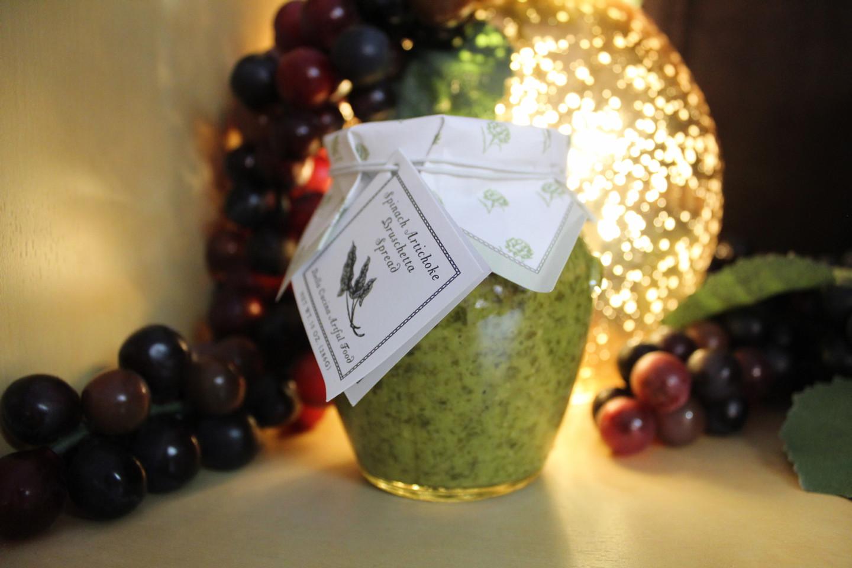 Spinach Artichoke Brushetta Spread