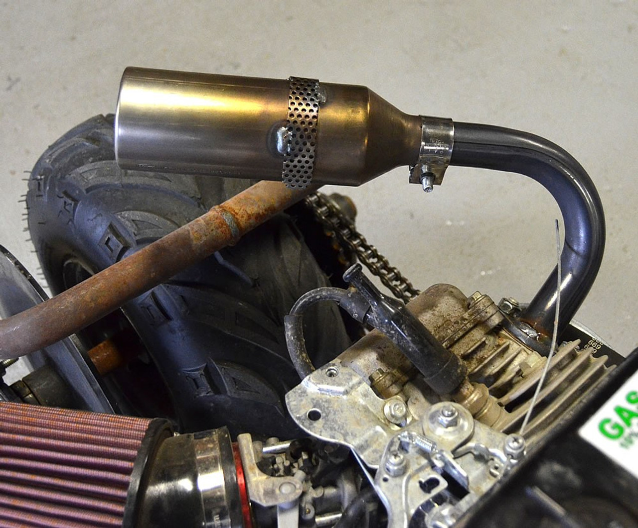 """Exhaust Silencer 1"""" with HD SS Clamp"""