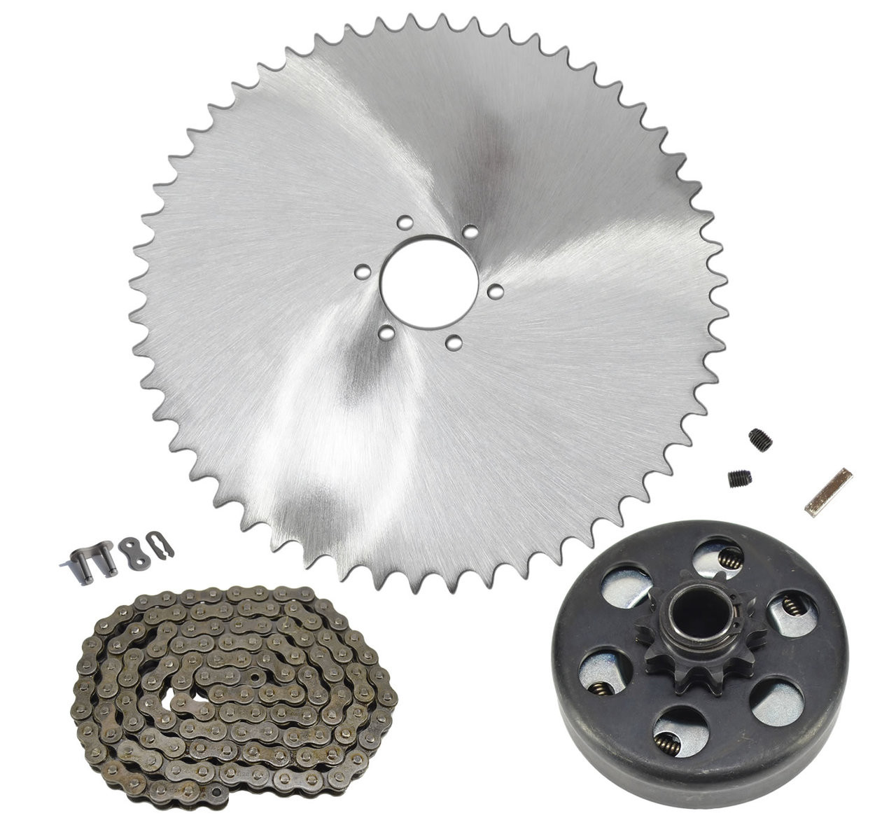 Mini Bike 6 Hole 420 Sprocket, Chain & Clutch